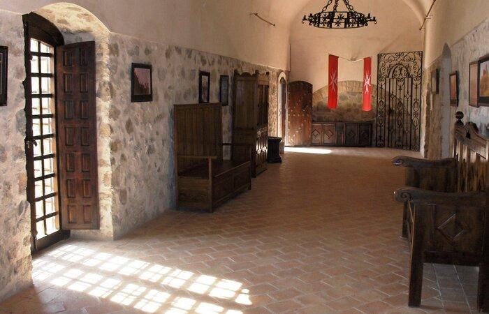 Interior Castillo Nave de archivo
